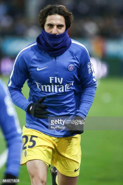 Rabiot Adrien of PSG during warmup before the French L1 football match between Strasbourg and Paris SaintGermain at the Meinau Stadium in Strasbourg...