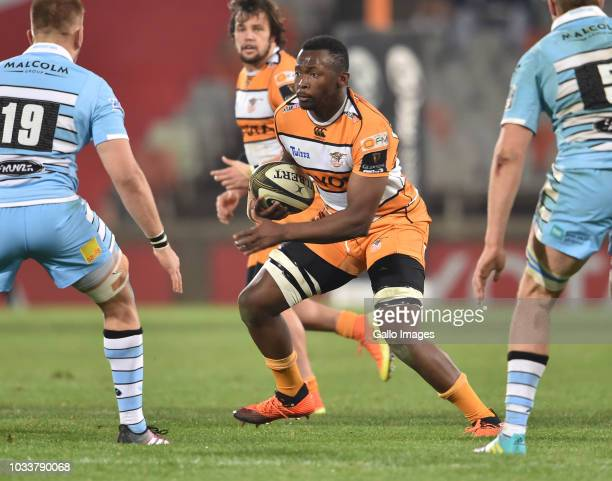 Rabz Maxwane of the Toyota Cheetahs during the Guinness Pro14 match between Toyota Cheetahs and Glasgow Warriors at Toyota Stadium on September 15...