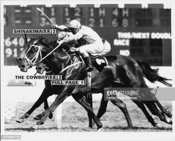 Finish Full Page R to S Full Page Jockey J CassidyFull Page obscures the placegetters in a tight finish to the Squatters HandicapSeptember 27 1986
