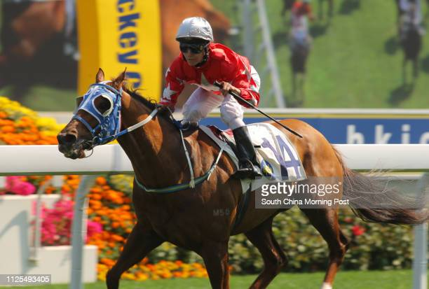 Race 5, Victory Ide Say, ridden by Richard Fourie, won the class 4 over 1400m at Sha Tin on 10Mar13.