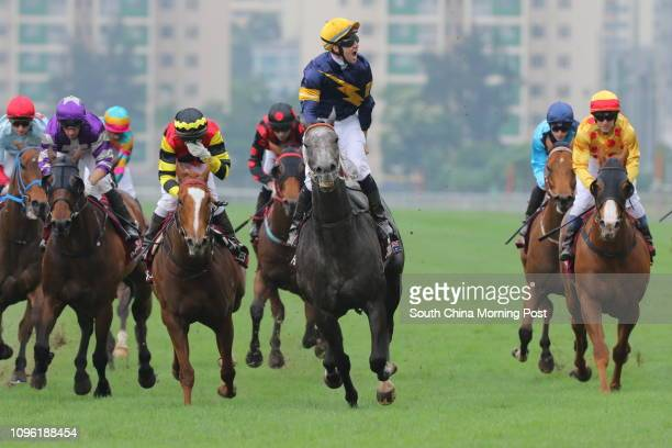 Race 7 Chautauqua ridden by Tommy Berry won the Chairman's Sprint Prize at Sha Tin 01MAY16