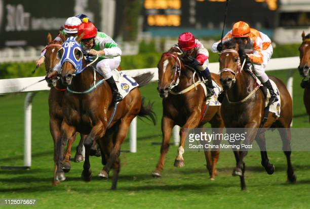 Race 7, Disguise, ridden by Kevin Shea, won the class 2 over 1800m at Happy Valley. 24 October 2007.