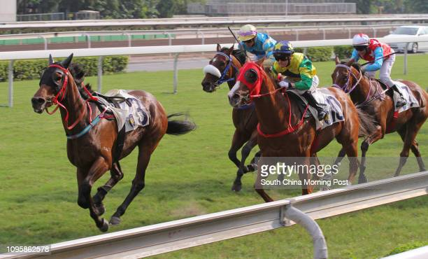 Race 7 Triumphant ridden by Kei Chiong Kakei won the class 3 over 1000m at Sha Tin Joao Moreira fell off from Red Marvel in front of the barrier...