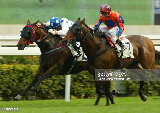 Race 8 FLY ME TO THE MOON ridden by Douglas Whyte won class 3 over 1400m at Sha Tin Racecourse 04 February 2007