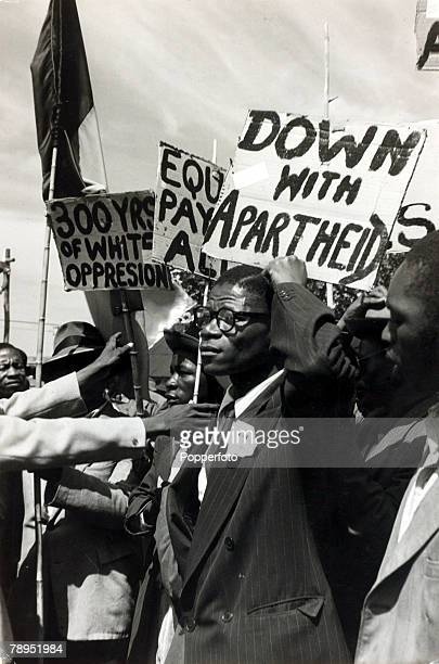 1952 Non white protesters part of a large crowd at a Johannesburg protest meeting which called for freedom and equality