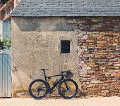 race bike against wall