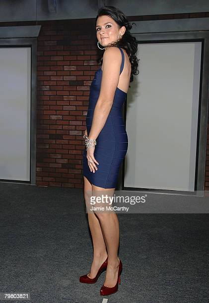 Race car driver and SI Swimsuit model Danica Patrick attends The Sports Illustrated Unveils 2008 Swimsuit Issue Celebration Party at 7 World Trade...