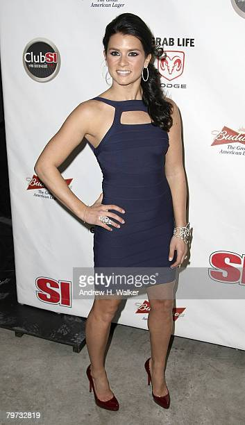 Race car driver and Sports Illustrated 2008 Swimsuit Model Danica Patrick attends the Sports Illustrated 2008 Swimsuit Issue press conference and...