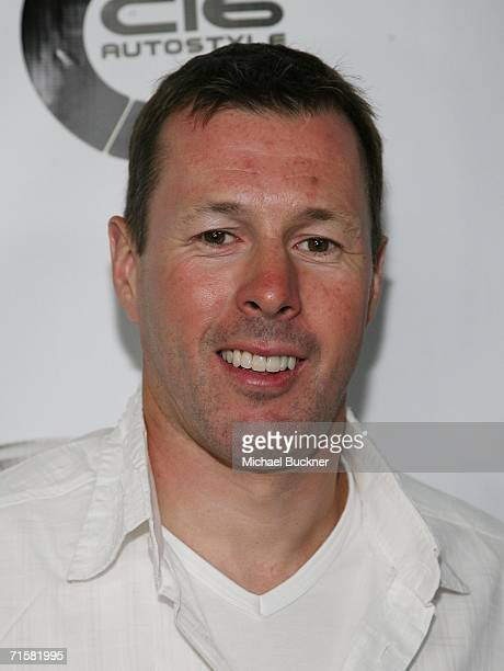 Race car driver Colin McRae arrives at the Subaru/DC Shoes X Games party at Avalon on August 3 2006 in Los Angeles California