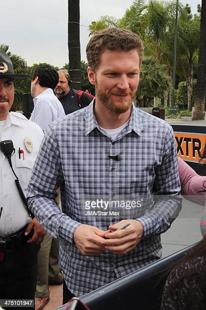 Race Car Driver Dale Earnhardt Jr is seen on February 26 2014 in Los Angeles California