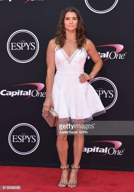 Race car driver Danica Patrick arrives at the 2017 ESPYS at Microsoft Theater on July 12 2017 in Los Angeles California