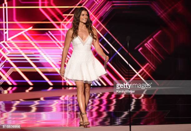 Race car driver Danica Patrick walks onstage at The 2017 ESPYS at Microsoft Theater on July 12 2017 in Los Angeles California
