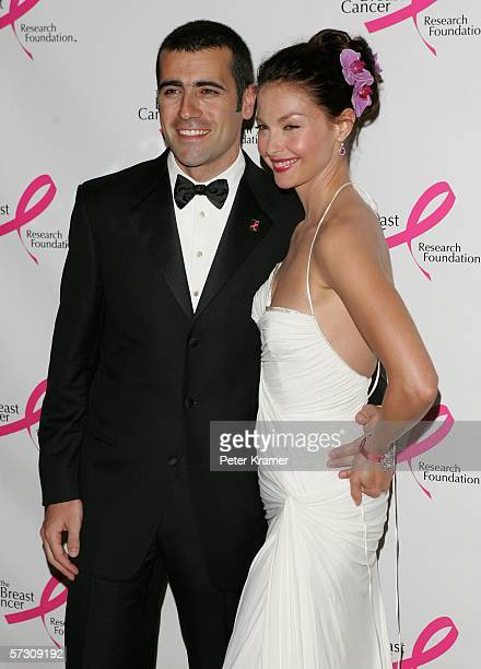 Race Car Driver Dario Franchitti and actress Ashley Judd attend the Breast Cancer Research Foundation's Very Hot Pink Party at the Waldorf Astoria on...