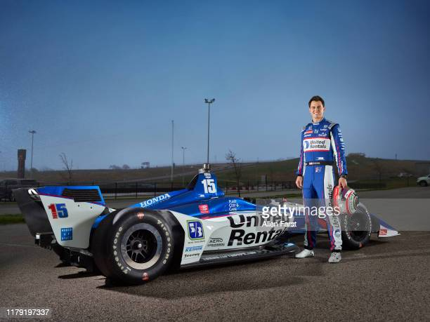 Race car driver Graham Rahal is photographed on February 10 2019 in Indianapolis Indiana