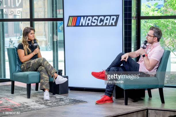 Race car driver Hailie Deegan discusses NASCAR with the Build Series at Build Studio on July 17 2019 in New York City