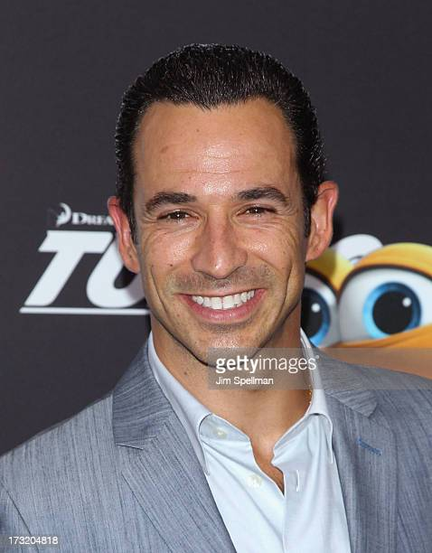 """Race Car Driver Helio Castroneves attends the """"Turbo"""" New York Premiere at AMC Loews Lincoln Square on July 9, 2013 in New York City."""