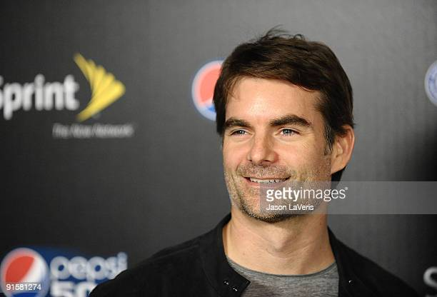 Race car driver Jeff Gordon attends Auto Club Speedway's Pepsi 500 at The Roosevelt Hotel on October 7 2009 in Hollywood California