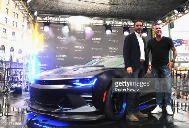Race car driver Jimmie Johnson and Gas Monkey Garage's Richard Rawlings attend the celebration for the new special edition Coutura Watch and Gas...