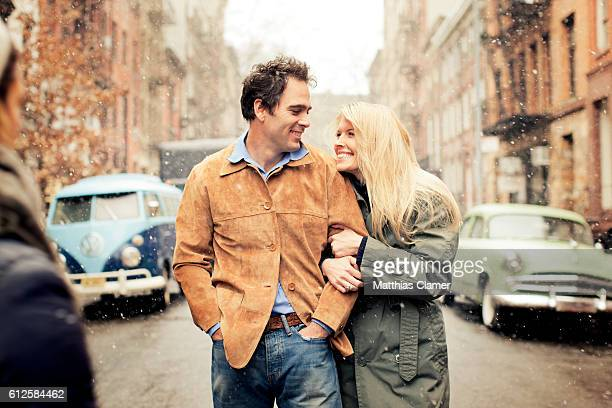Race car driver Jimmie Johnson and his wife Chandra Janway are photographed for ESPN Magazine The Music Issue on January 28 2013 in New York City...