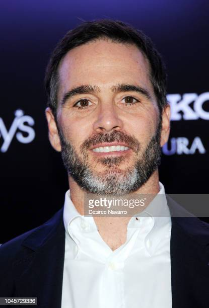 Race car driver Jimmie Johnson attends the celebration for the new special edition Coutura Watch and Gas Monkey Garage custom designed Seiko Camaro...