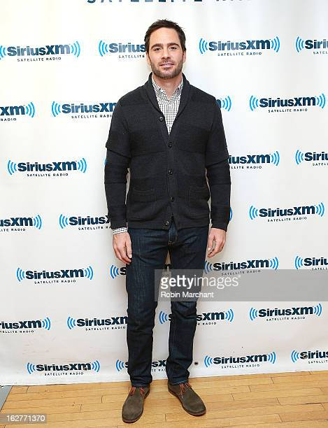 Race car driver Jimmie Johnson visits at SiriusXM Studios on February 26 2013 in New York City