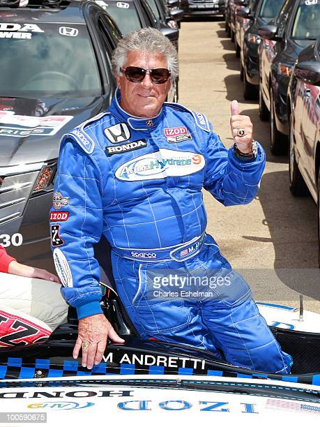 Race car driver Mario Andretti attends Macy's and IZOD's celebration of the Indianapolis Motor Speedway and the Indy 500 at Macy's Herald Square on...