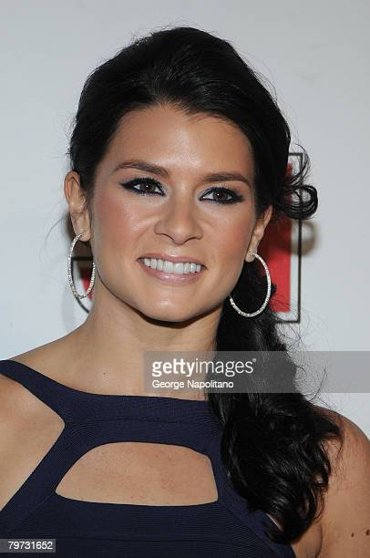 Race car driver model Danica Patrick on February 12 2008 during a press conference at the Sports Illustrated office at 7 World Trade Center in New...