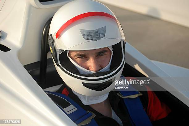 Race car driver ready for the competition