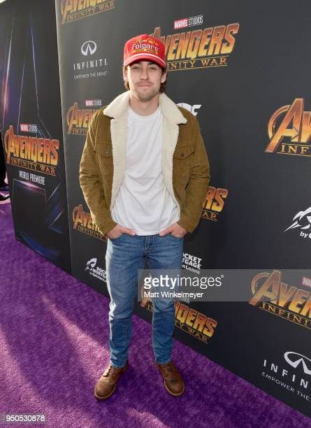 Race car driver Ryan Blaney attends the Los Angeles Global Premiere for Marvel Studios' Avengers Infinity War on April 23 2018 in Hollywood California