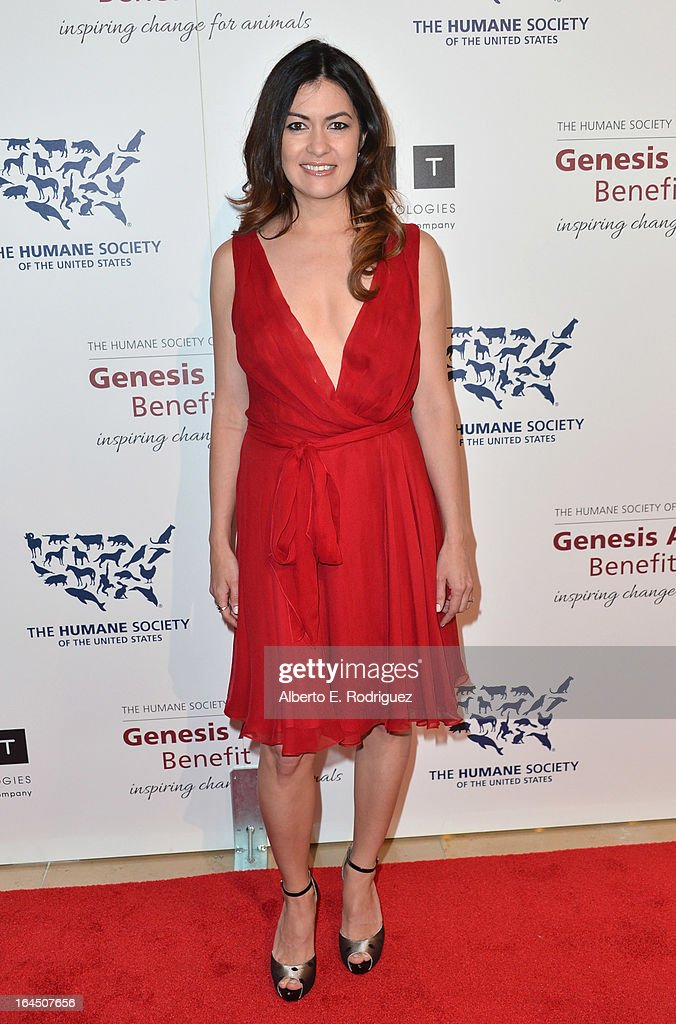 Race car driver Tatiana Calderon arrives to the 2013 Genesis Awards Benefit Gala at The Beverly Hilton Hotel on March 23, 2013 in Beverly Hills, California.
