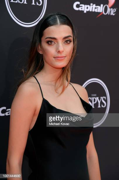 Race car driver Toni Breidinger attends the 2018 ESPY Awards Red Carpet Show Live Celebrates With Moet Chandon at Microsoft Theater on July 18 2018...