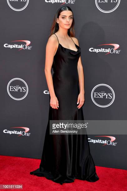 Race car driver Toni Breidinger attends The 2018 ESPYS at Microsoft Theater on July 18 2018 in Los Angeles California