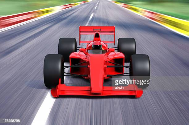 F1 race car in action moving quickly