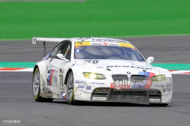 bmw m3 gt2 race car - bmw bildbanksfoton och bilder