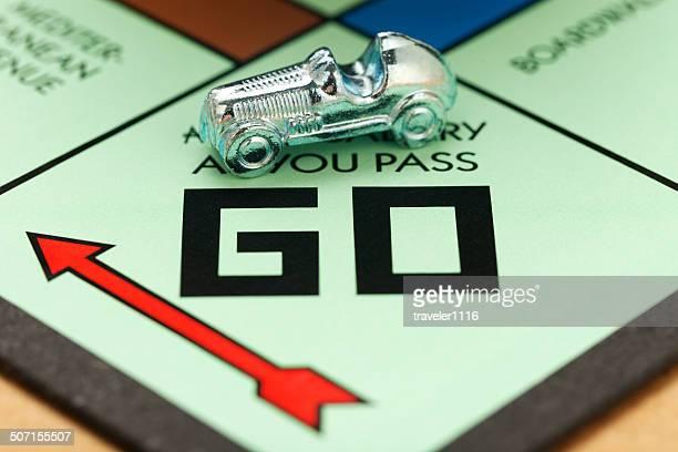 Race Car Piece On A Monopoly Board