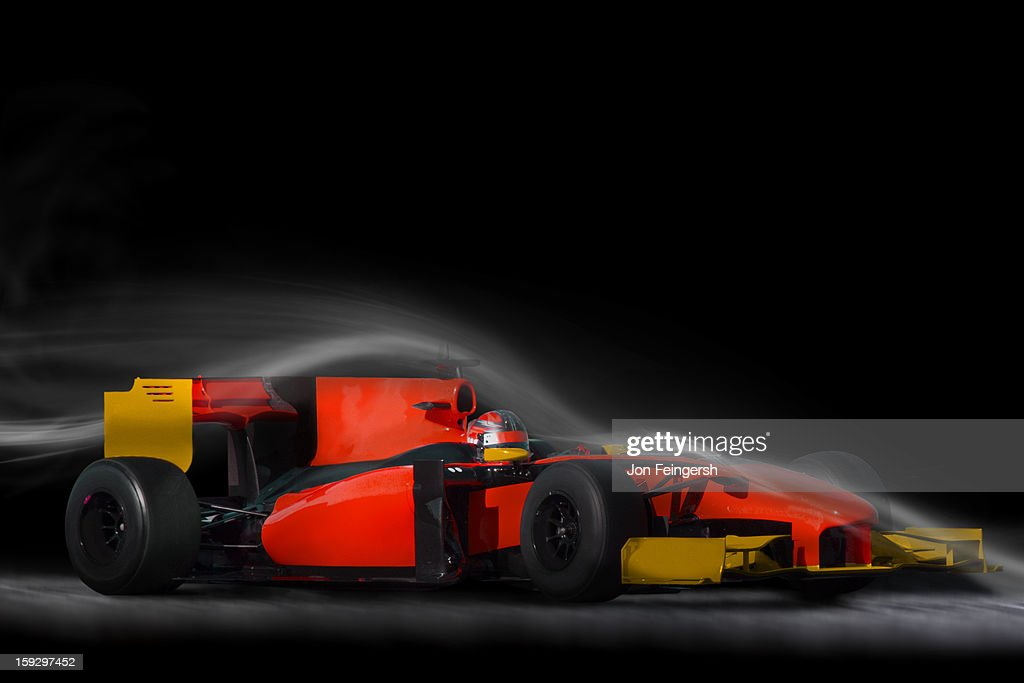 INDY race car sitting in air stream. : Stock Photo