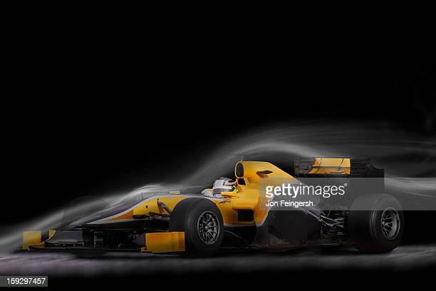 INDY race car sitting in air stream.