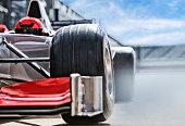 Race car sitting on track
