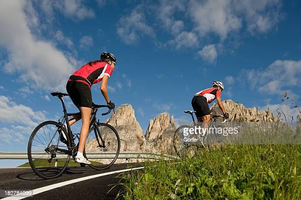 couple Course de vélo