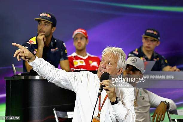 Race Director Charlie Whiting explains some of the stewards decisions from the Mexican Grand Prix in the Drivers Press Conference during previews for...