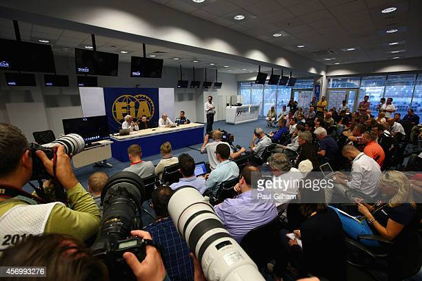 Race Director Charlie Whiting, FIA President Jean Todt, Chief Medical Officer Jean-Charles Piette and Medical Rescue Co-ordinator Ian Roberts speaks...