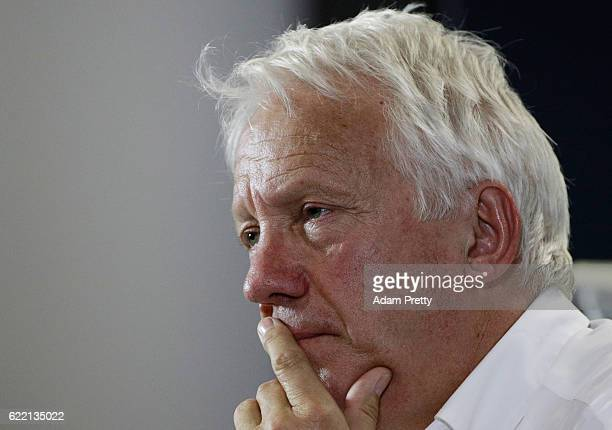 Race Director Charlie Whiting in the Drivers Press Conference during previews for the Formula One Grand Prix of Brazil at Autodromo Jose Carlos Pace...