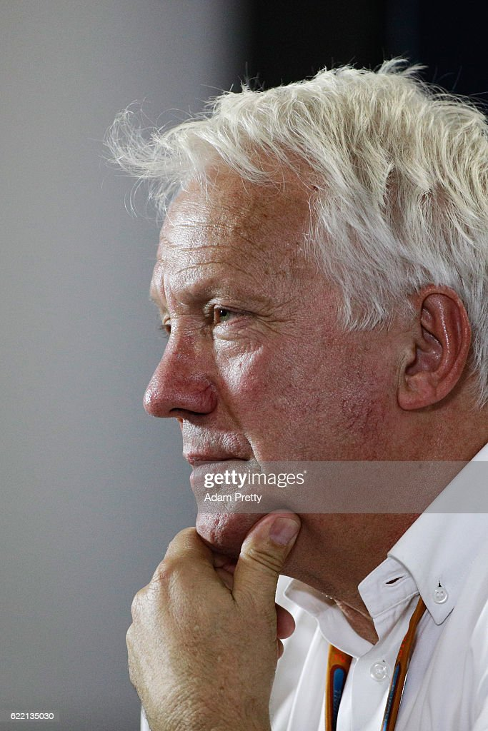 Race Director, Charlie Whiting in the Drivers Press Conference during previews for the Formula One Grand Prix of Brazil at Autodromo Jose Carlos Pace on November 10, 2016 in Sao Paulo, Brazil.