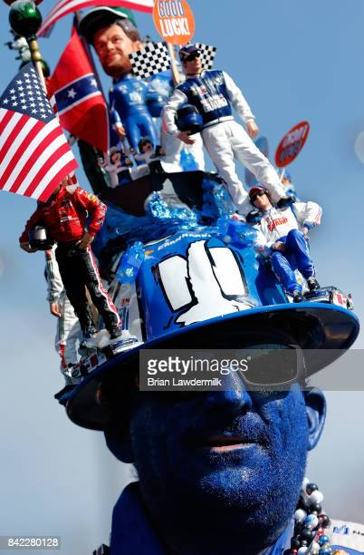 A race fan looks on prior to the Monster Energy NASCAR Cup Series Bojangles' Southern 500 at Darlington Raceway on September 3 2017 in Darlington...