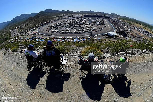 Race fans enjoy the action during the NASCAR Sprint Cup Series Good Sam 500 at Phoenix International Raceway on March 13 2016 in Avondale Arizona