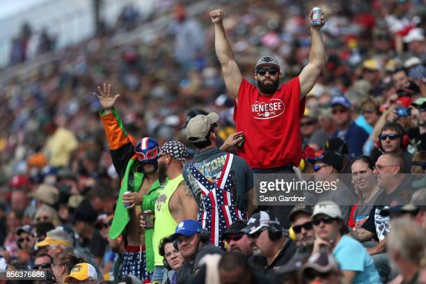 Race fans look on during the Monster Energy NASCAR Cup Series Apache Warrior 400 presented by Lucas Oil at Dover International Speedway on October 1...