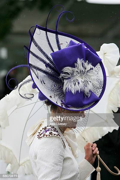 Race goer arrives for the second day of Royal Ascot held at York Racecourse on June 15, 2005 in York, England. This year's Royal Meeting is relocated...