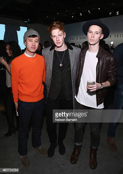 Race Imboden a guests attend Rag Bone Fall/Winter 2015 Menswear Presentation at Dia Center on February 3 2015 in New York City