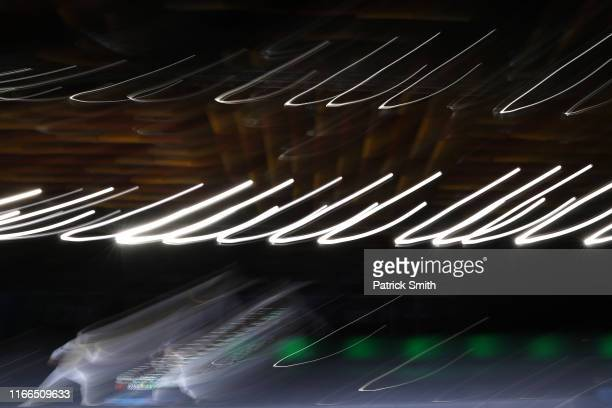 Race Imboden of the United States and Gustavo Alonso Alarcon Sirriya of Chile compete in the Men's Foil Individual Semifinalon Day 11 of Lima 2019...