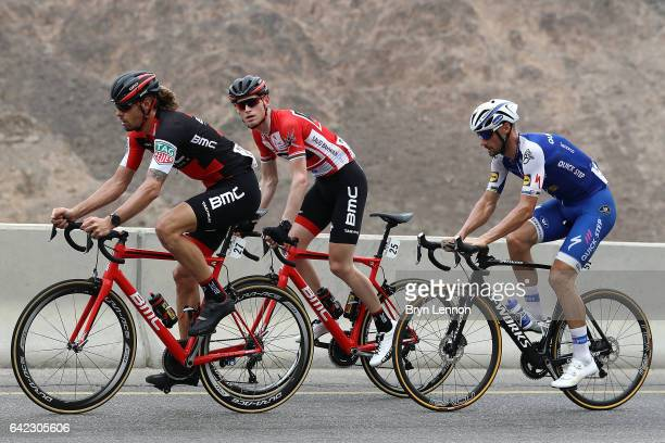 Race leader Ben Hermans of Belgium and the BMC Racing Team in action on stage four of the 8th Tour of Oman a 118km stage from Yiti to the Ministry of...